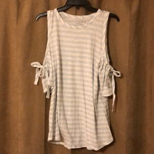 Adorable Loft cold shoulder top; size M
